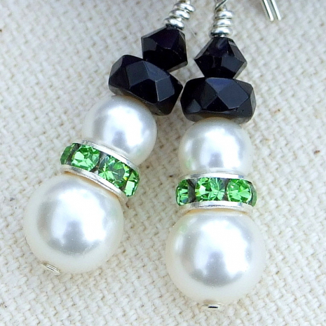Handmade snowmen jewelry for women.