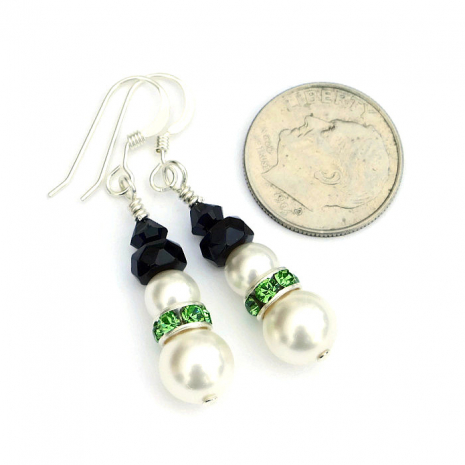 Holiday Christmas snowmen earrings jewelry.