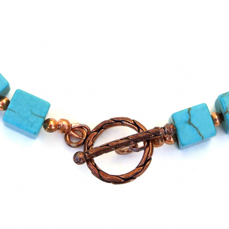 solid copper toggle clasp set