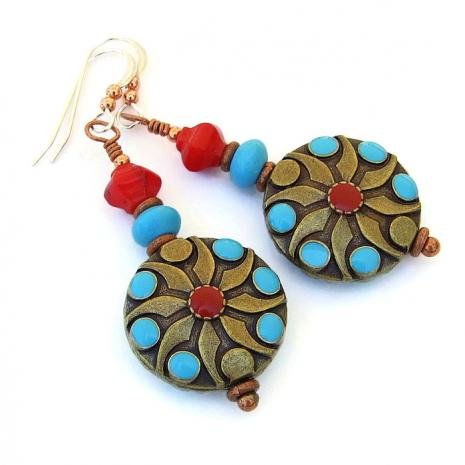Southwest earrings for women.