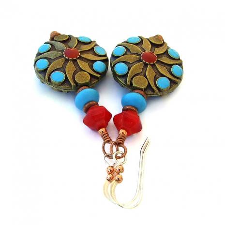 Handmade Southwest earrings.