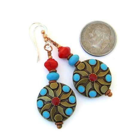 Southwest earrings for her - jewelry gift idea.