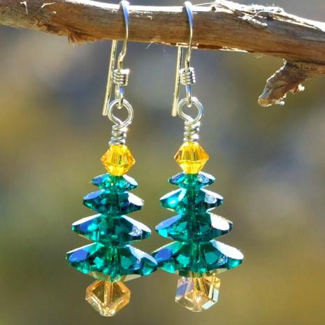 sparkling christmas tree jewelry