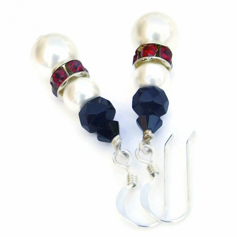 Christmas snowman earrings with red collars for her.