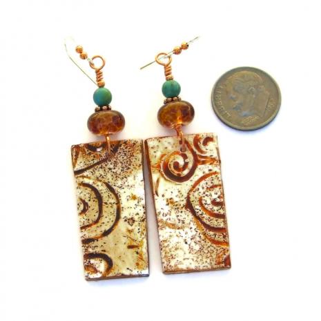 spiral earrings for her
