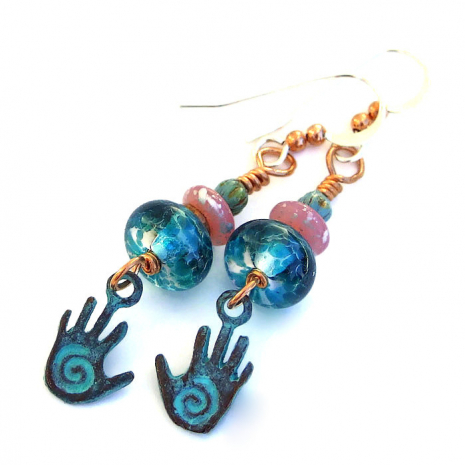 spiral hands jewelry gift for women