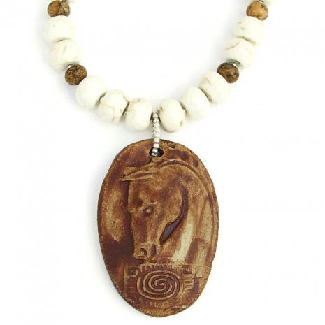 Spirit horse pendant necklace.