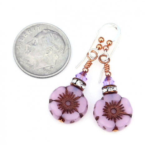 pink opal flower jewelry for spring