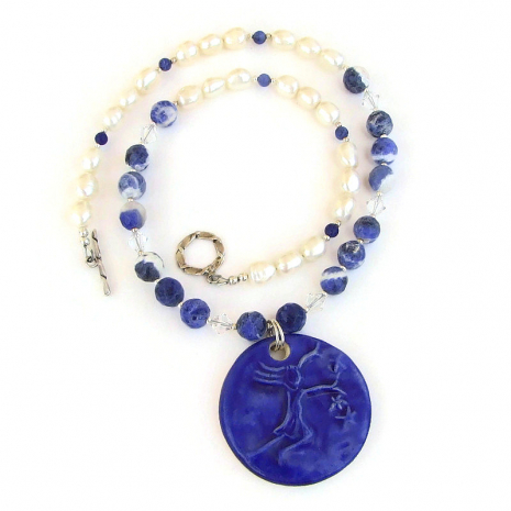 star lover jewelry blue sodalite pearls swarovski crystals