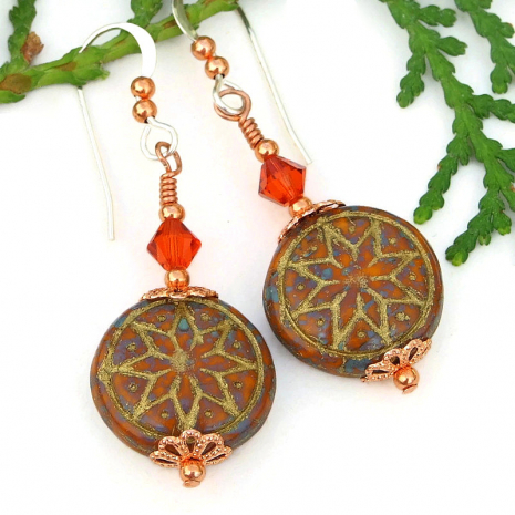 star of venus goddess symbol jewelry swarovski crystals