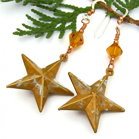 Jewelry gift idea, Texas star earrings.
