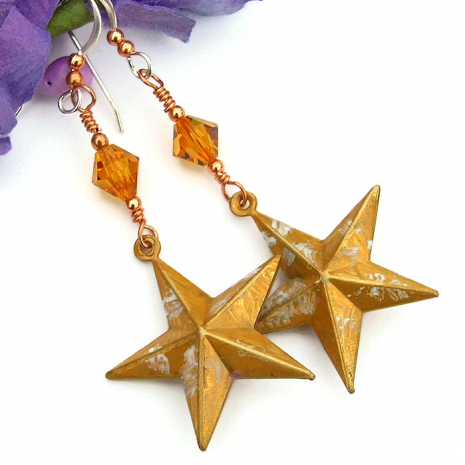 Star earrings for women.