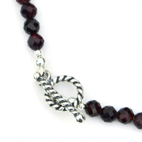 sterling silver toggle clasp with twisted design