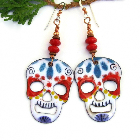 sugar skull jewelry for women halloween dia de los muertos
