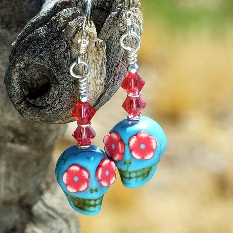 sugar skull jewelry gift for women handmade