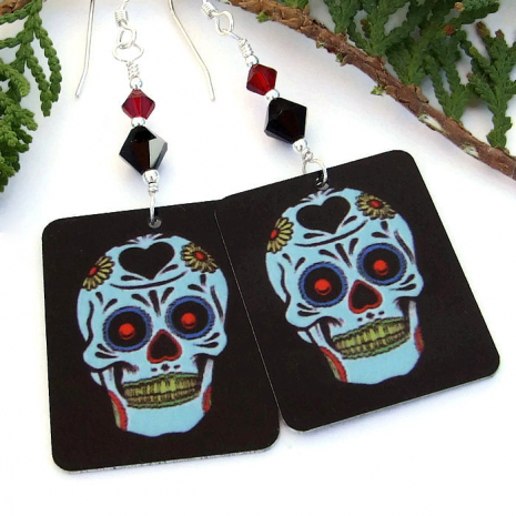Halloween and Day of the Dead handmade jewelry.