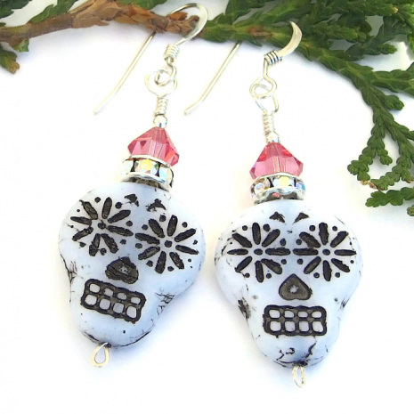 sugar skulls day of the dead handmade jewelry