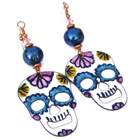 sugar skulls earrings gift for women