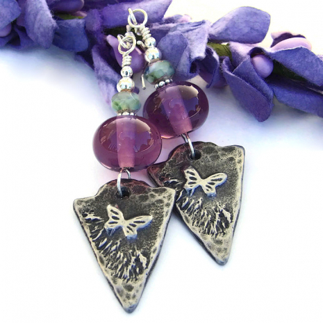 Butterfly jewelry for women.