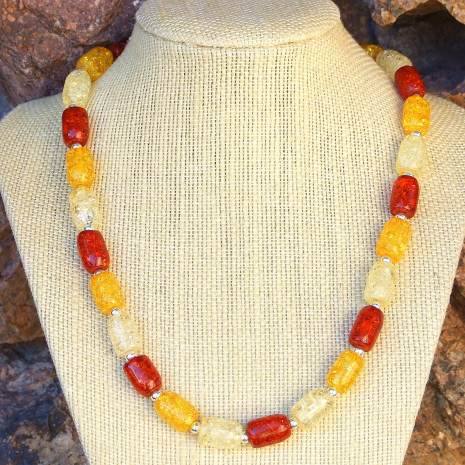 Classic looking handmade jewelry for the woman who loves unique amber necklaces.