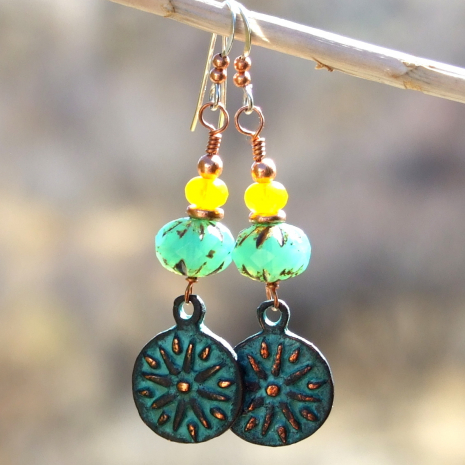 sun rays handmade charm jewelry Mykonos copper