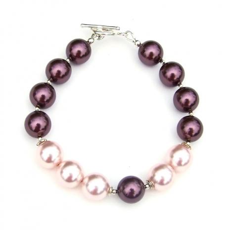 swarovski crystal pearl bracelet gift for women
