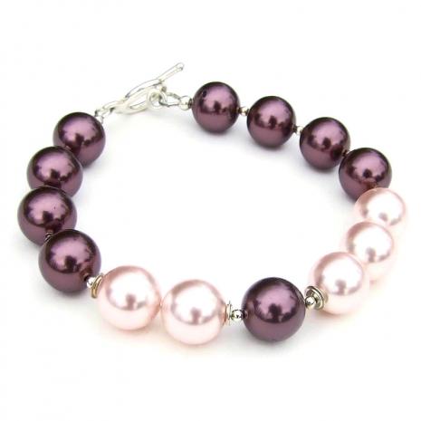 swarovski crystal pearl jewelry gift for women