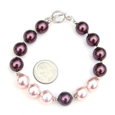 swarovski pearl and sterling silver jewelry for her