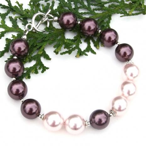 swarovski pearl bracelet easter mothers day gift