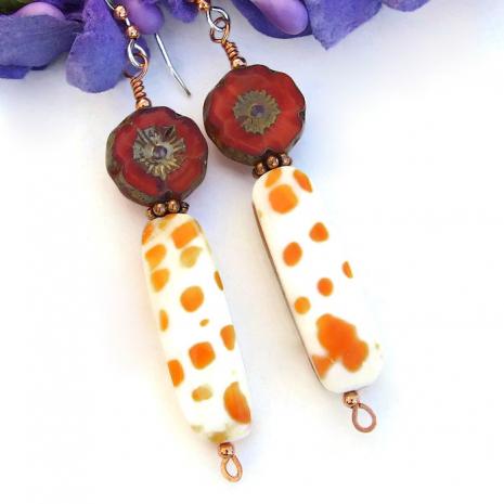 Handmade shell jewelry.