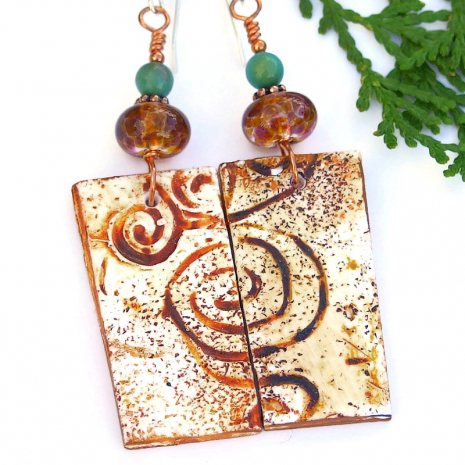 swirling spiral petroglyph jewelry for women
