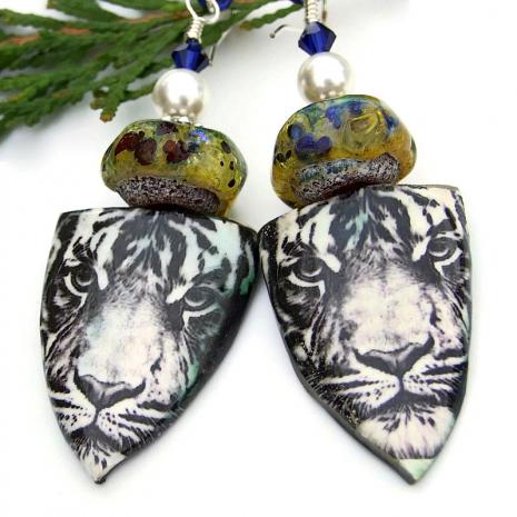 tiger earrings gift for women