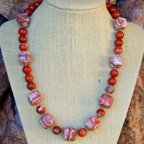 """The """"Time Stands Still"""" handmade necklace has a Southwest charm to it."""