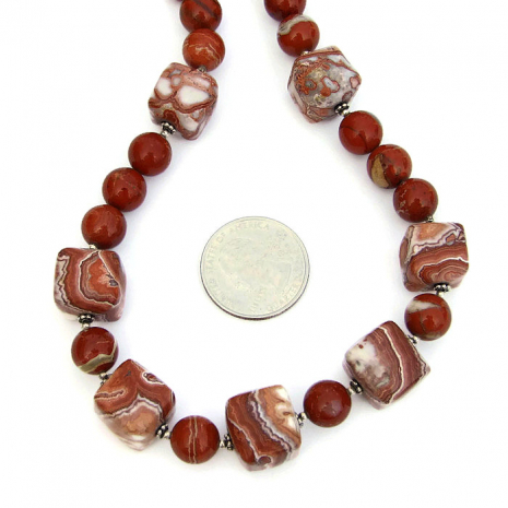 Unique Southwest inspired beaded gemstone necklace.
