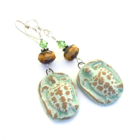 tortugas turtle earrings gift for her