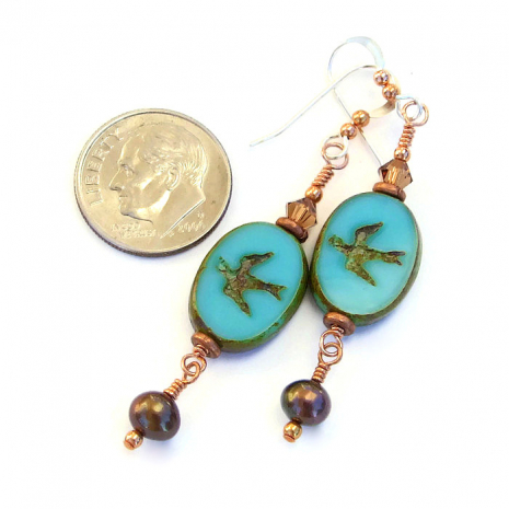 Jewelry gift ideas - bird earrings