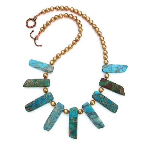Handmade stick collar fashion necklace.