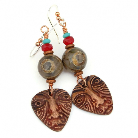 tribal face jewelry one of a kind gift