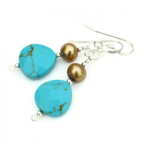 turquoise and pearl jewelry gift idea