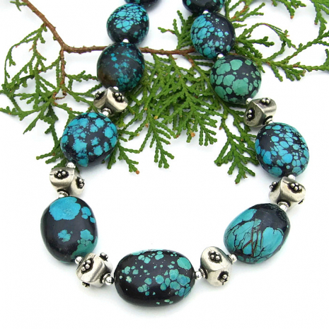 Turquoise necklace gift idea for her