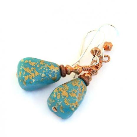 turquoise drop jewelry gift for women