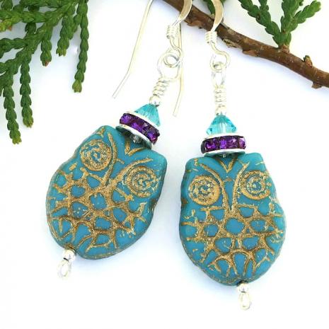 Owl earrings.