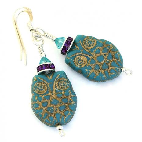 Handmade owl jewelry for women.