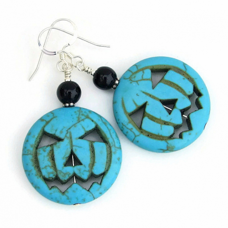 Halloween jack o lantern jewelry for women gift idea