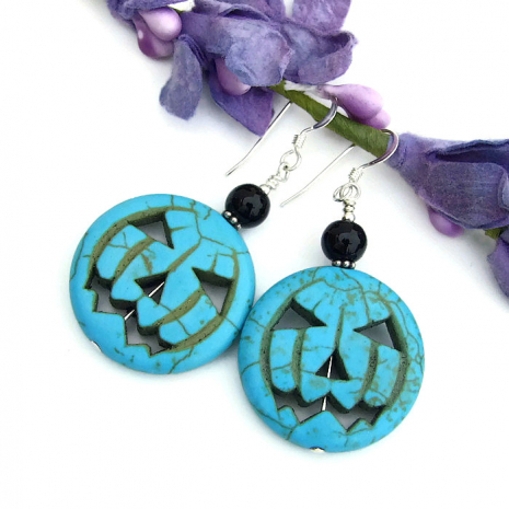 Jack O Lantern earrings for women