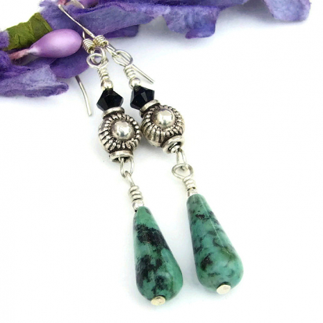 unique turquoise dangle earrings for her