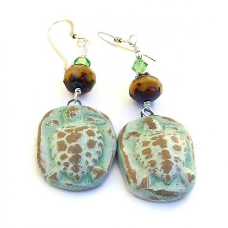 turtle earrings gift for women