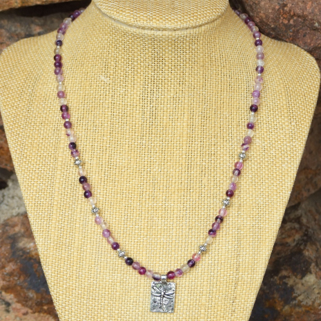 handmade dragonfly necklace gift idea for women
