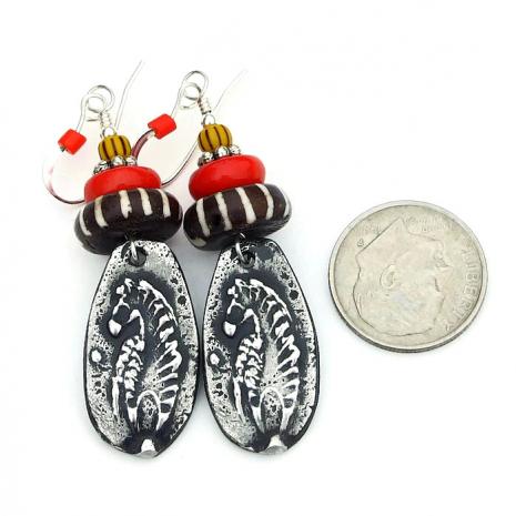 boho zebra jewelry tribal gift for her