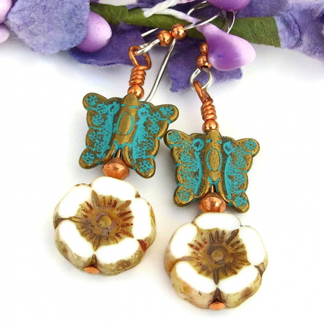 flower earrings gift for women